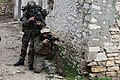 U.S. and French marines establish security during a simulated raid on a suspected enemy compound at Camp de Garrigues outside Nîmes, France, Feb. 13, 2014 140213-M-XI134-870.jpg
