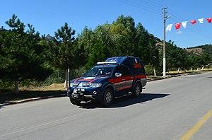 National Medical Rescue Team (UMKE) - A vehicle of UMKE in deployment.