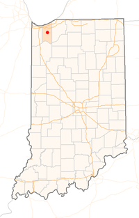 Location in Indiana