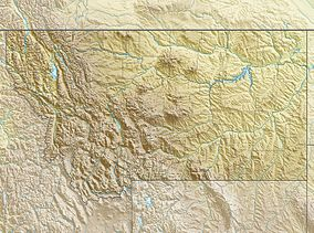 Map showing the location of Little Bighorn Battlefield National Monument