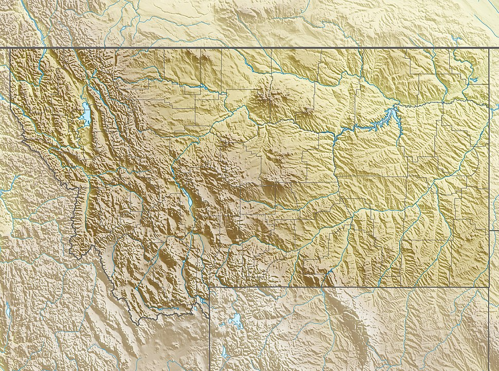 Map showing the location of Glacier National Park