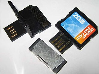 SD card - SD cards with dual interfaces: SD and USB
