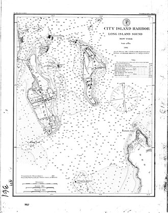 Magnetic declination - Western Long Island Sound, 1884