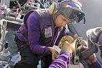 USS Carl Vinson Sailors repair a fueling station swing joint 141205-N-TJ675-026.jpg