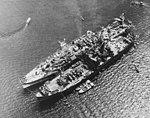 USS Currituck (AV-7) and USS Tangier (AV-8) moored at Morotai, in October 1944 (80-G-1022364).jpg