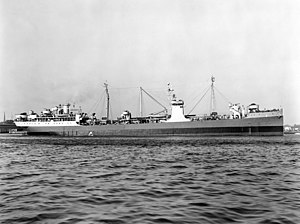 USS Maumee (AO-2) off the Norfolk Naval Shipyard on 31 March 1945 (19-N-97150).jpg