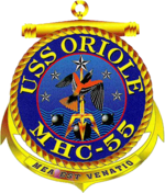 USS Oriole MHC-55 Crest.png