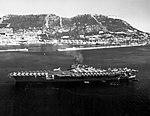 USS Saratoga (CVA-60) at anchor at Gibraltar in September 1958.jpg