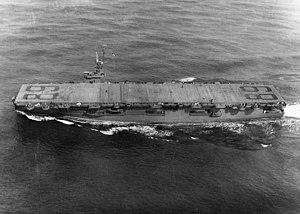 USS Takanis Bay (CVE-89) underway in May 1944
