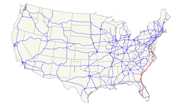 US Route Wikiwand - Us 17 map