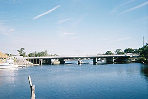 U.S. Route 19 in Florida - The US 19 bridge over the Pithlachascotee River between New Port Richey and Port Richey