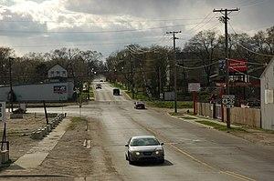 U.S. Route 52 in Illinois - US 52 near the split with US 6 in Joliet