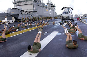 English: At sea aboard USS Bataan (LHD 5) Sept...