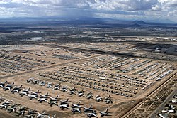 The 309th Aerospace Maintenance and Regeneration Group's 'aircraft boneyard' located on the Davis-Monthan AFB.