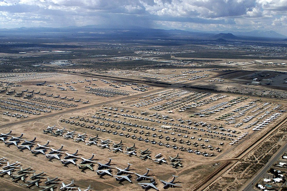 US Navy 040204-N-3122S-004 An aerial image of the Aerospace Maintenance and Regeneration Center (AMARC) located on the Davis-Monthan Air Force Base in Tucson, Ariz