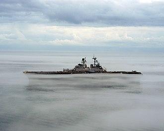 USS Iwo Jima (LHD-7) - Iwo Jima operating in fog in the Atlantic Ocean