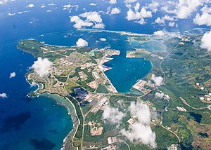 US Navy 060920-N-0000X-001 An aerial view of U.S. Naval Base Guam Sept. 20, 2006. Naval Base Guam supports the U.S. Pacific Fleet.jpg