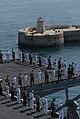 US Navy 070815-N-5033P-064 Sailors and Marines man the rails as amphibious assault ship USS Kearsarge(LHD 3) pulls into the Port of Malta.jpg