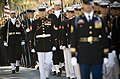 US Navy 071031-N-0696M-162 The joint service honor guard escorts the casket of Adm. William J. Crowe during the memorial service for the 11th Chairman of the Joint Chiefs of Staff who died Oct. 18 at the age of 82.jpg