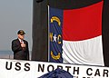 US Navy 080908-N-7668G-026 North Carolina congressman Mike McIntyre boards the Virginia-class attack submarine USS North Carolina (SSN 777) during a change of command ceremony at Naval Station Norfolk.jpg