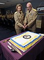 US Navy 090723-N-0555B-472 Rear Adm. Robin Braun, left, and Rear Adm. Joseph Kilkenny, right, cut a cake at a reception following a change of command ceremony.jpg