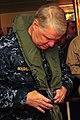 US Navy 100107-N-7939W-096 Chief of Naval Operation (CNO) Adm. Gary Roughead dons flight gear aboard USS Nimitz (CVN 68).jpg