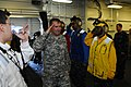 US Navy 100129-N-2735T-029 U.S. Army Lt. Gen. P.K. (Ken) Keen, deputy commander of U.S. Southern Command, is piped aboard the amphibious assault ship USS Nassau (LHA 4).jpg