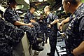US Navy 100409-N-9818V-195 Master Chief Petty Officer of the Navy (MCPON) Rick West tours the Los Angeles-class attack submarine USS Philadelphia (SSN 690).jpg