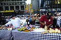 US Navy 100529-N-3041C-010 Navy Culinary Specialist 1st Class Keith Combo and Coast Guard Food Service Specialist 2nd Class Robert Runn compete in a cookout on ABC's Good Morning America in Times Square.jpg