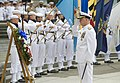 US Navy 110603-N-ZB612-070 Chief of Naval Operations (CNO) Adm. Gary Roughead participates in a wreath laying ceremony during a Battle of Midway co.jpg