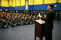 US Navy 111025-N-YM440-175 Asstistant Secretary of the Navy Juan Garcia speaks to students at the Master-at-Arms school at Navy Technical Training.jpg
