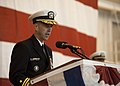 US Navy 111029-N-NY820-042 Vice Adm. John Richardson, Commander, Submarine Forces, delivers remarks during the commissioning of the Virginia-class.jpg