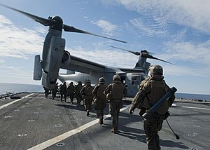 US Navy 120131-N-NR955-343 An Osprey helicopter lands on the flight deck.jpg