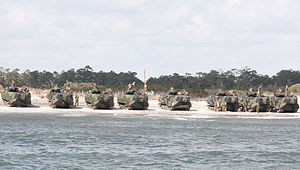 US Navy 120202-N-NU634-009 Marines ready their amphibious assault vehicles as they prepare to transit to the amphibious assault ship USS Wasp (LHD.jpg