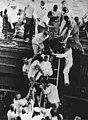 US Navy sailors rescueing passengers from Steelton train wreck 1962.jpg