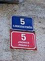U jinonického rybníčka 5, domovní čísla.jpg