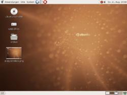 Ubuntu 5.04 em alemão