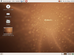 Ubuntu 5.04 em alem�o