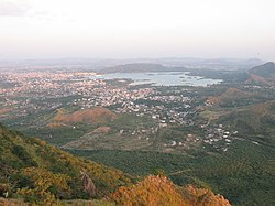 View of Udaipur city from the Monsoon Palace