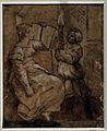 Ugo da carpi, sigilla che legge (da raffaello), xilografia a due legni, 1500-30 ca.JPG