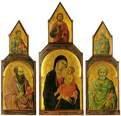 Madonna with child and Saint Peter and Saint Paul