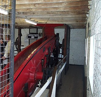 Crofton Pumping Station - The beam gallery with the 1812 engine in operation