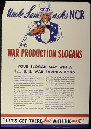 NCR Corporation - WWII NCR poster