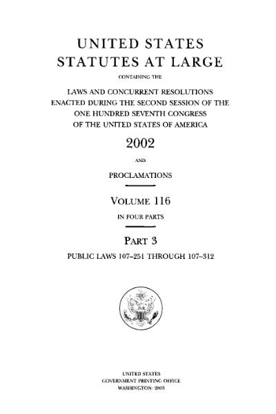 File:United States Statutes at Large Volume 116 Part 3.djvu
