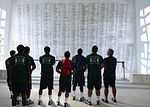University Of Hawaii Rainbow Warriors visit USS Arizona Memorial 130817-N-DT805-015.jpg