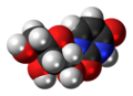 Uridine 3D spacefill.png