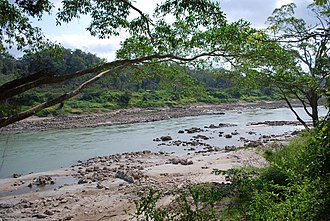 Lacandon Jungle - View of the Usumacinta River from the jungle of the Yaxchilan archeological site