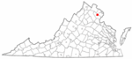 State map highlighting Manassas Park