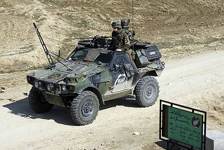 VBL (armoured light vehicle) of the 1st Parachute Hussar Regiment in Afghanistan. VBL RHP Afghanistan.JPG