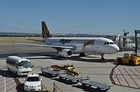 Tigerair Australia plane at airport